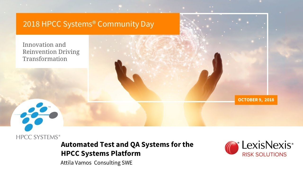 HPCC Systems Community Day Breakouts: Machine Learning Track