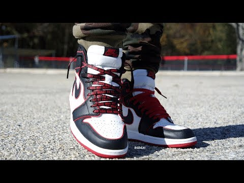 "AIR JORDAN 1 ""BLOODLINE"" ""REVIEW & ON FEET! EARLY LOOK!"