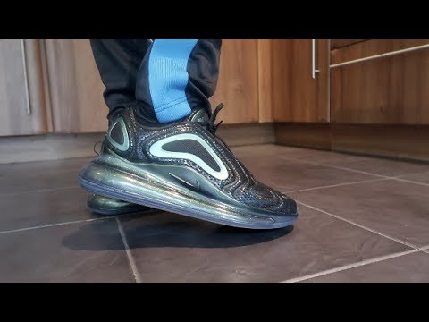NIKE AIR MAX 720 'IRIDISCENT' (GREENBLACK REVIEW, UNBOXING, ON FEET)