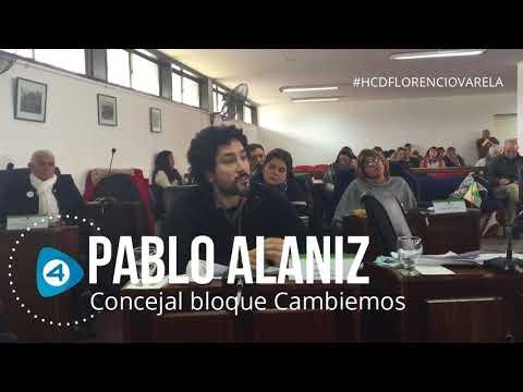 HCD de Florencio Varela: Pablo Alaniz habló, lanzó duras críticas y defendió a los gobiernos de Macri y Vidal
