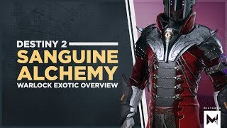 Destiny 2: Exotic Warlock Chest 'Sanguine Alchemy' Perk Overview And Gameplay