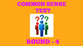 COMMON SENSE TEST That 90% of people fail // Lets Test Yout Smartness//funny questions// Round - 4