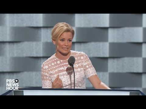 Actress Elizabeth Banks discusses working class roots, voices Clinton support at 2016 DNC