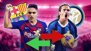 Fc barcelona and inter milan could do an absolutely incredible swap: antoine griezmann for lautaro martinez! 72% of barcelona's socios have backed this hu...