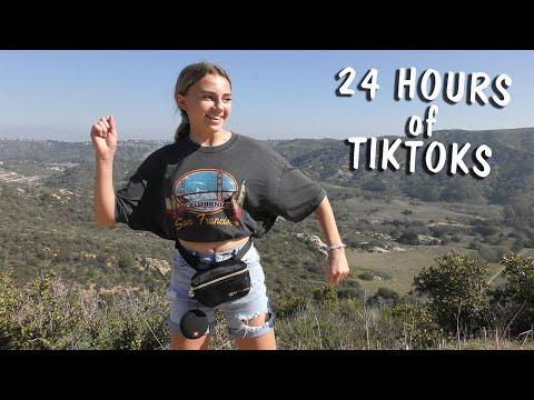 DOING TIKTOKS FOR 24 HOURS | Kayla Davis