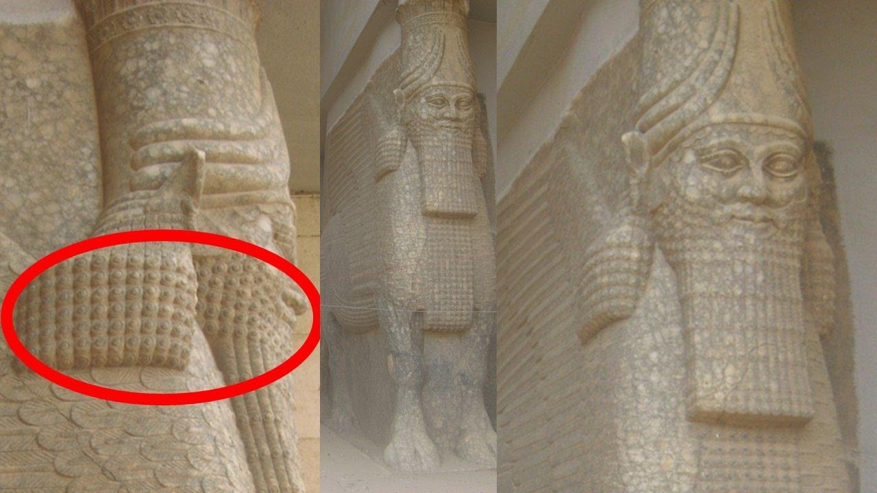 Lamassu - Annunaki Winged Bulls - Lost Ancient Sumerian Statues in Iraq at Gate of Nergal, Nineveh