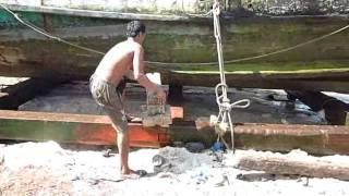 Boat Repair At The Sihanoukville, Cambodia Dock.