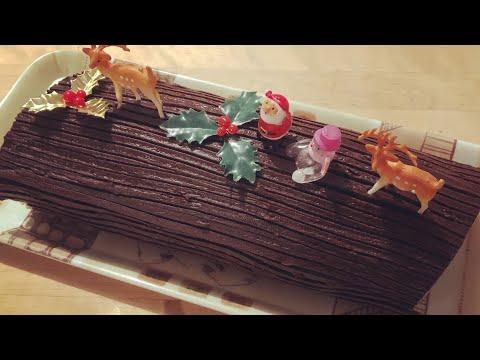 bûche-de-noël-poire---chocolat-/-recette-facile-et-rapide