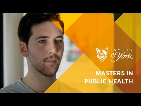 Masters in Public Health at the University of York