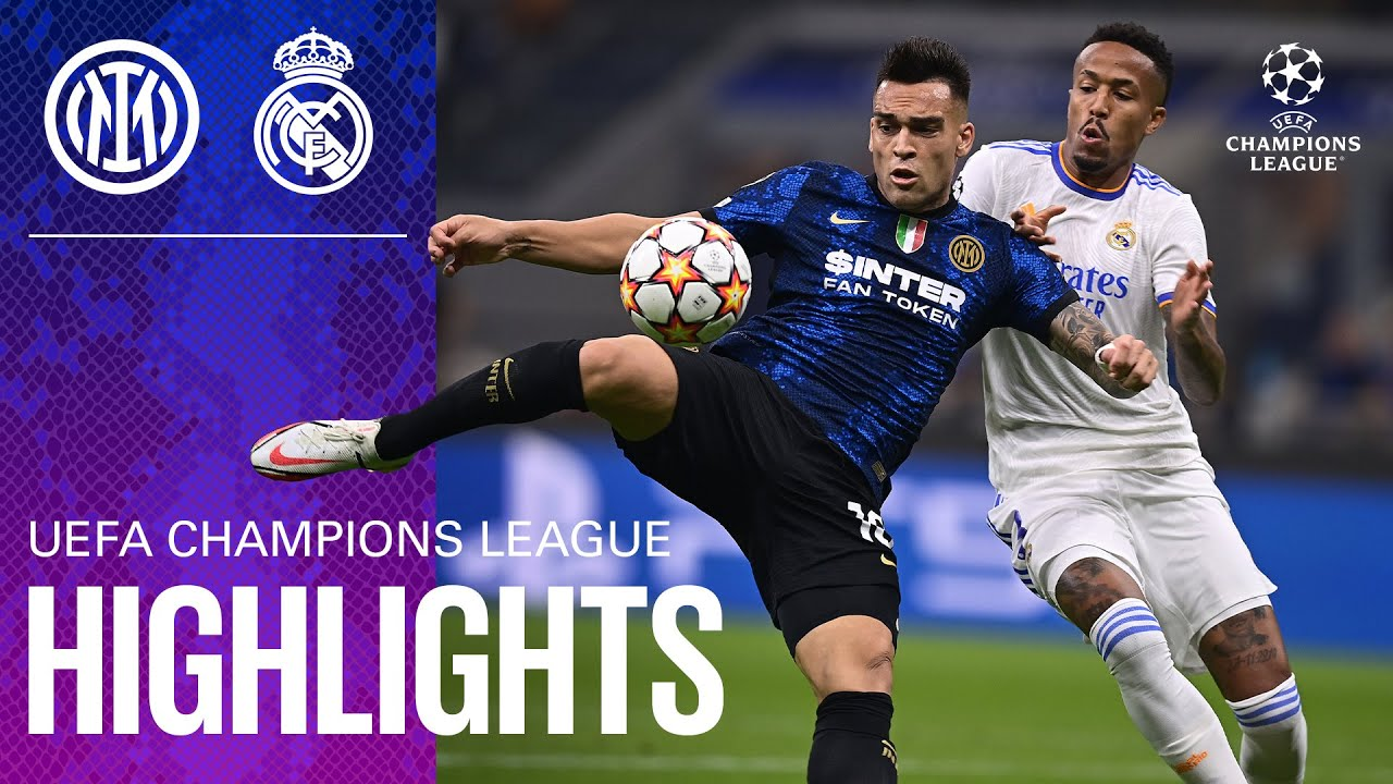 Download INTER 0-1 REAL MADRID   HIGHLIGHTS   UEFA Champions League 2021/22 Matchday 01 ⚽⚫🔵