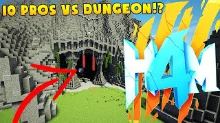 10 PROS VS HARDEST DUNGEON EVER - HOW TO MINECRAFT SEASON 4 SMP (H4M) #5