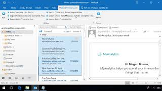 export Email Addresses from Outlook Messages to Auto-Complete Files