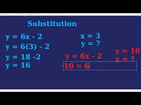 Substitution In Algebra
