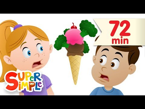 Thumbnail: Do You Like Broccoli Ice Cream? + More | Nursery Rhymes | Super Simple Songs