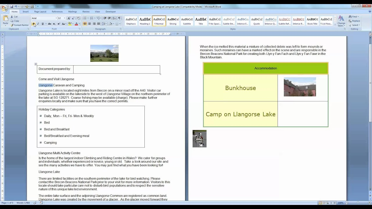 Embolden Text Within A Word Processing Document