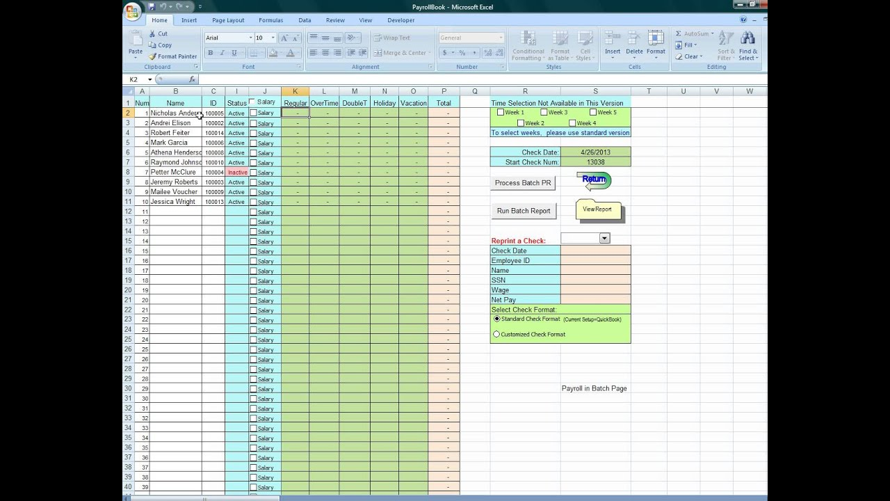 Using Excel To Process Payroll Dyi