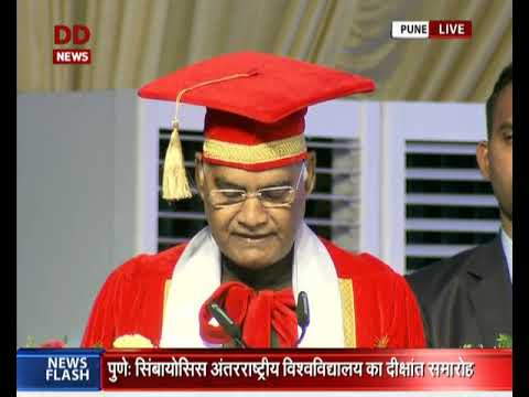 President Ram Nath Kovind speaks at the convocation ceremony of Symbiosis in Pune