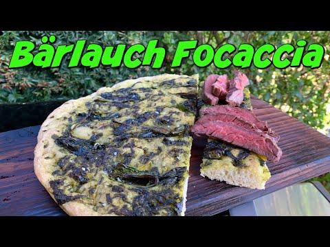 Bärlauch Focaccia Mit Skirt Steak