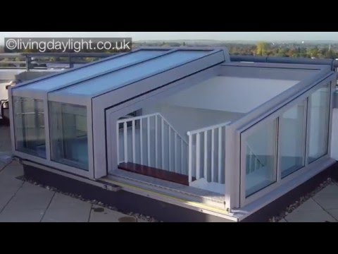 AGF | Roof Access Solution | Contemporary Raised Roof Garden Access  Enclosure, Roof Access Hatch