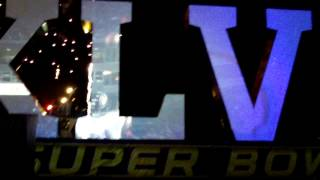 Super Bowl 47 Roman Numerals arrival & fireworks - Part 6 (Jan. 31st, 2013)