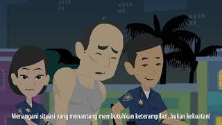 Animated video on Women in Law enforcement in English and subtitled in Bahasa