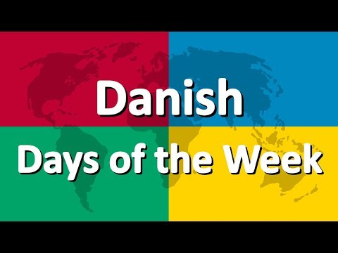 Learn Danish part 1 | Days of the Week