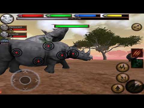 🦏Rhinoceros (Rhino) Simulator, Ultimate Savanna Simulator