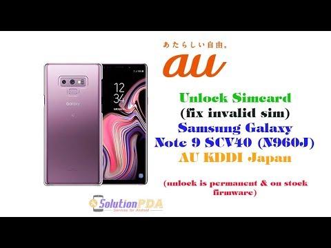 Unlock SCV40 Samsung Galaxy Note 9 AU KDDI Japan N960J