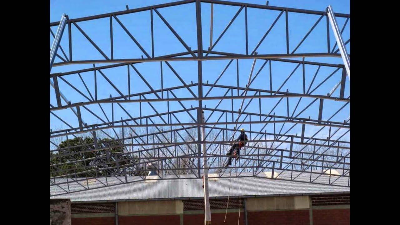 Tinglados techos estructuras met licas youtube for Como hacer una estructura metalica para techo