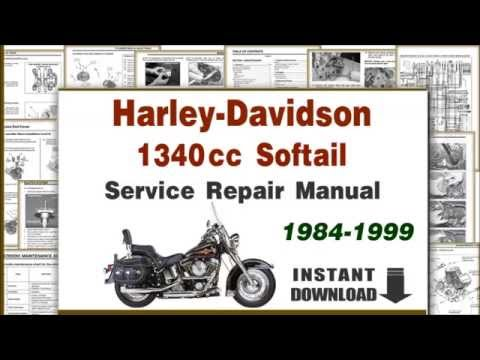 Harley Davidson Softail EVO 1340cc Motorcycles Service Repair Manual PDF 19841999  YouTube