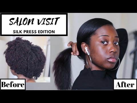 SALON VISIT | STRAIGHTENING MY NATURAL HAIR FOR THE FIRST TIME IN 2 YEARS!