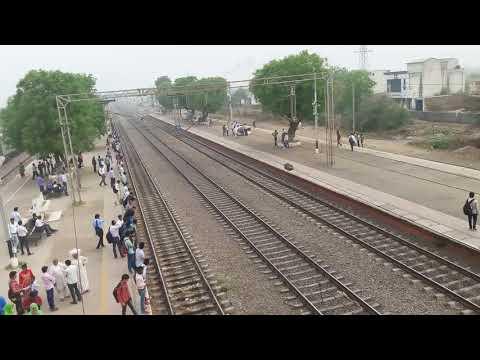 Indian High speed train Gatiman Express at asaoti station