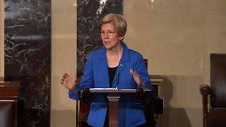 Warren cut off during Sessions debate