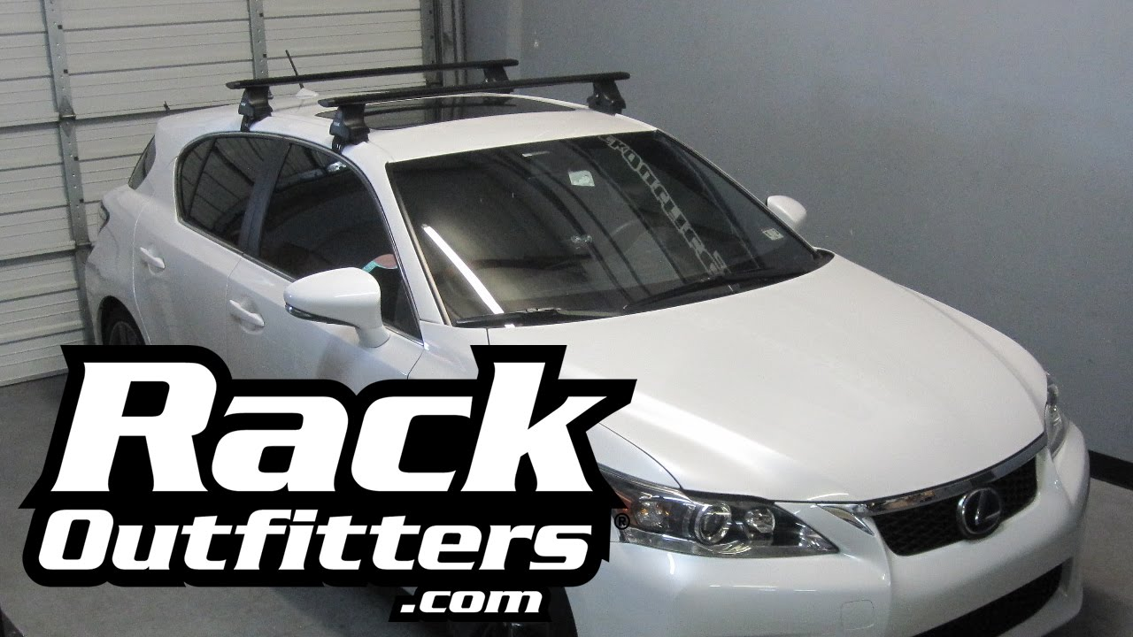 Lexus Ct200h Thule Rapid Traverse Black Aeroblade Roof