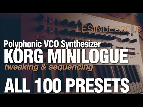 KORG MINILOGUE // ALL 100 FACTORY PRESETS // PART 1