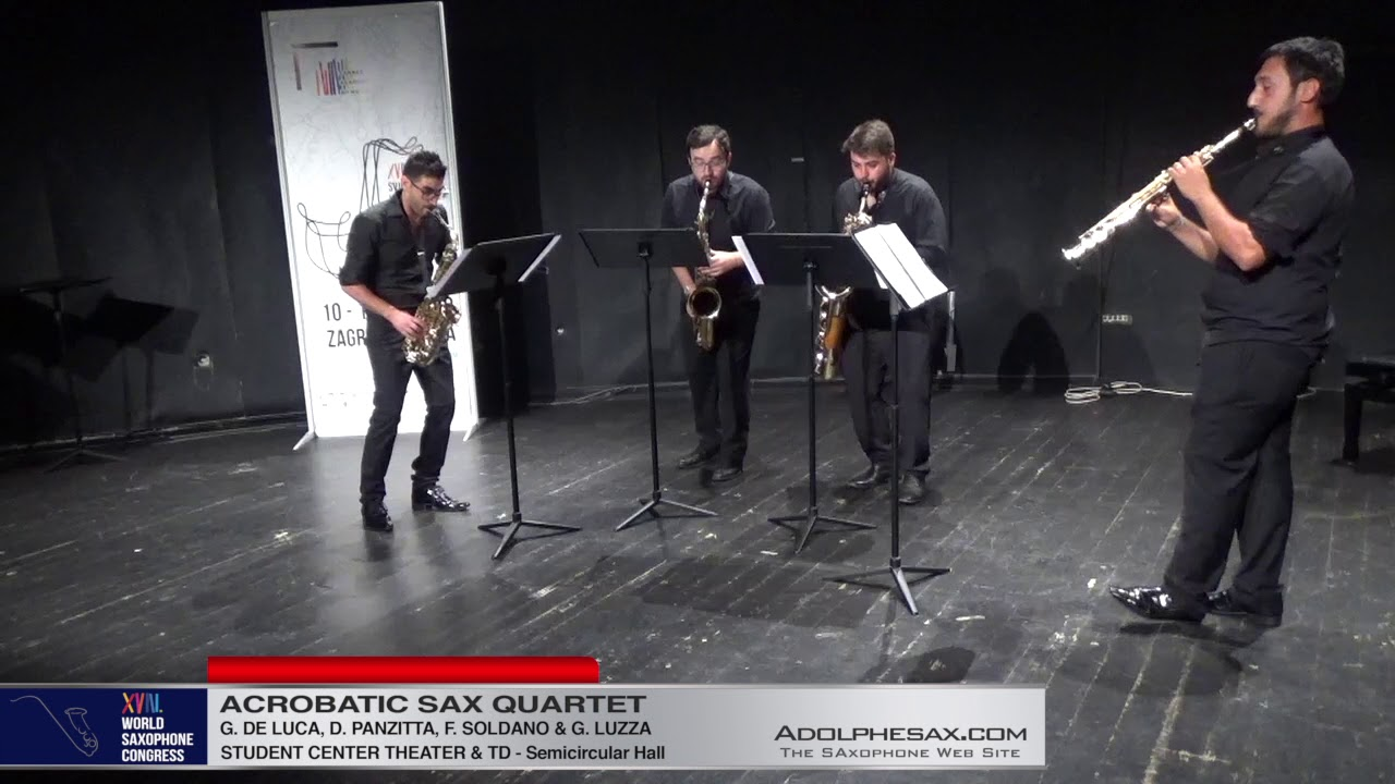 Metropolitan TOccata by Carlo Galante   Acrobatic Saxophone Quartet   XVIII World Sax Congress 2018