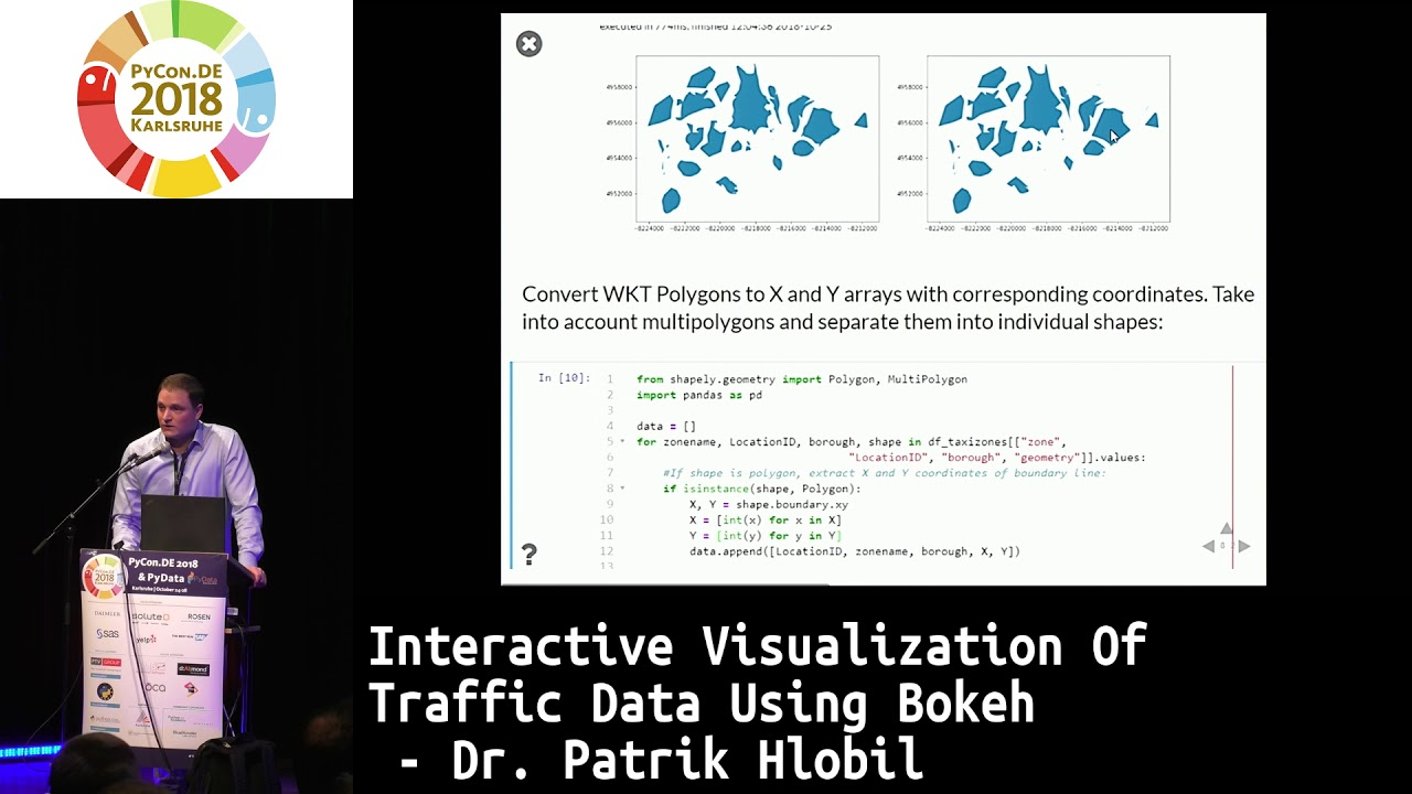 Image from Interactive Visualization of Traffic Data using Bokeh
