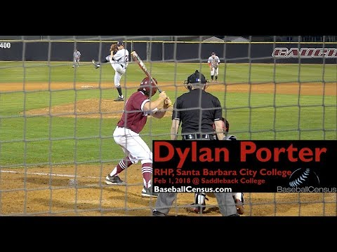 Dylan Porter, RHP, Santa Barbara City College
