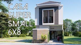 Desain Rumah Super Mungil 6x8m2 [kode 037B]