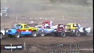 Class 13 SODA Oshkosh WI 1992 crash off the first jump