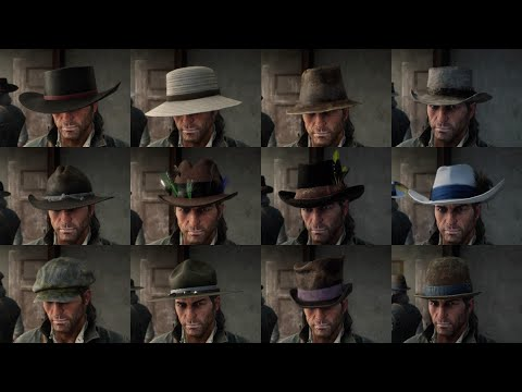 Red Dead Redemption 2 - 39 Stolen Hats / 11 Found Hats / 30 Crafted Hats /  25 Owned Hats - RDR2