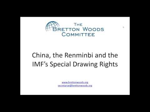 China, the Renminbi, and the IMF's Special Drawing Rights