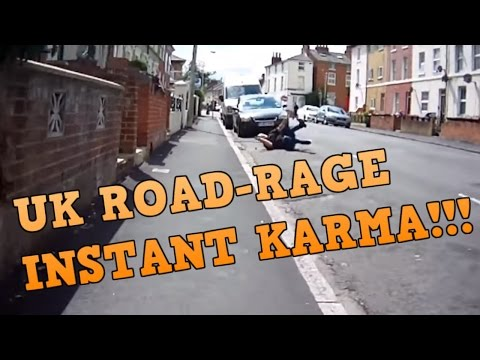 UK ROAD-RAGE - INSTANT KARMA! #1 (CAR AND BIKE)