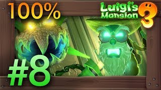 Luigis Mansion 3: 100% Walkthrough Part 8 - Garden Suits (7F) YouTube Videos