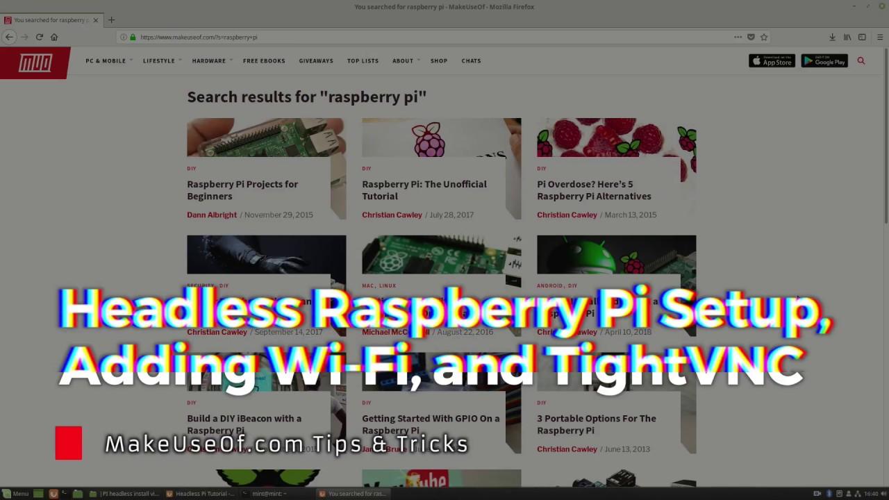 Headless Raspberry Pi Setup, with Wi-Fi and VNC Server