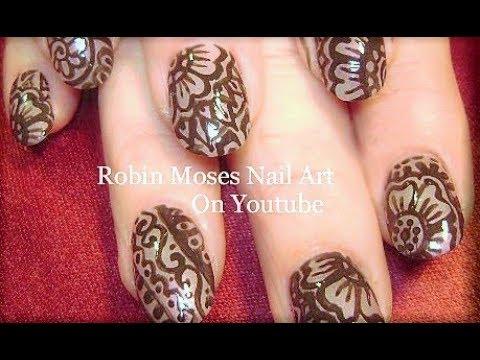 Fun Nails! Easy DIY AMAZING Henna Nail Art Design Tutorial - Fun Nails! Easy DIY AMAZING Henna Nail Art Design Tutorial - YouTube
