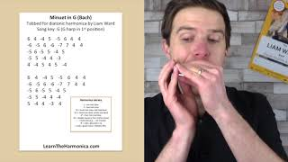 Minuet in G (J.S. Bach) harmonica lesson for G harp - Classical Week at LearnTheHarmonica.com
