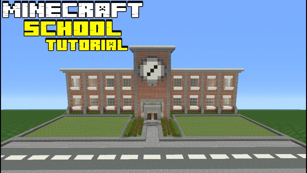 Minecraft Tutorial: How To Make A School - YouTube