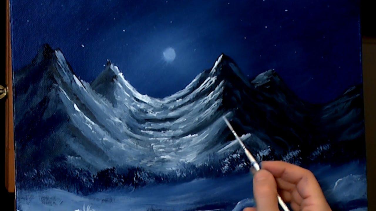 mountains wallpaper blue moon