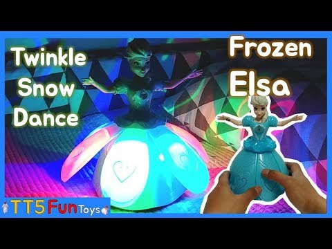 Princess Elsa(Frozen) Snow Dance toys(Music-Let It GO) - Unboxing and Playing for Kids